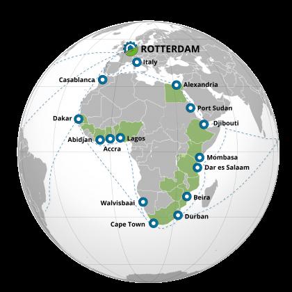03b_havens EU - bootlijnen - havens Afrika - achterland